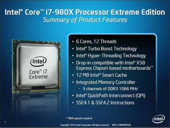 Core i7-980X Extreme Edition
