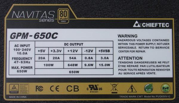 gpm_650c_specs_label